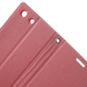 Goos PU kožené penženkové pouzdro na Sony Xperia M5 - růžové - 5
