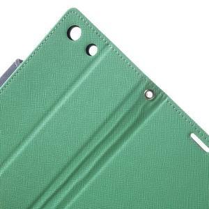 Goos PU kožené penženkové pouzdro na Sony Xperia M5 - cyan - 5