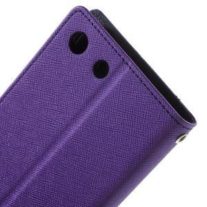 Goos PU kožené penženkové pouzdro na Sony Xperia M5 - fialové - 5