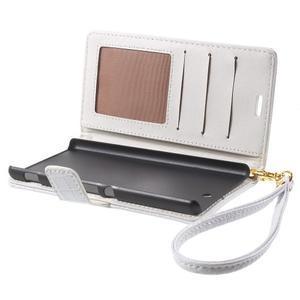 Croco peněženkové pouzdro na mobil Sony Xperia M5 - bílé - 5