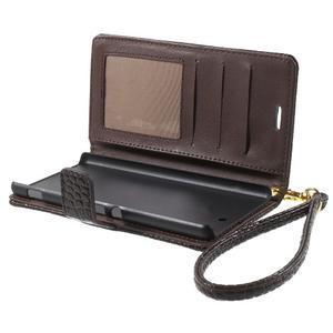 Croco peněženkové pouzdro na mobil Sony Xperia M5 - coffee - 5