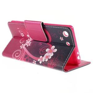 Crafty peněženkové pouzdro na Sony Xperia M5 - srdce - 5