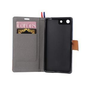 Jeans peněžnkové pouzdro na mobil Sony Xperia M5 - šedé - 5