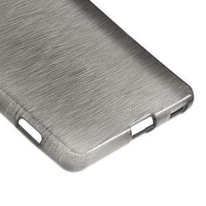 Brush gelový obal pro Sony Xperia M5 - šedý - 5