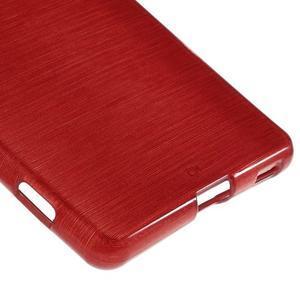 Brush gelový obal pro Sony Xperia M5 - červený - 5