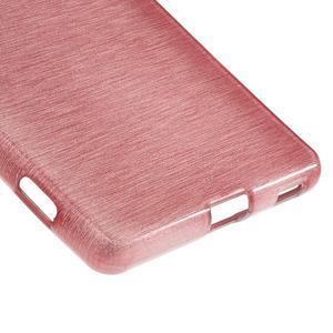 Brush gelový obal pro Sony Xperia M5 - růžový - 5