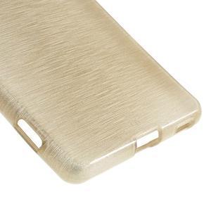 Brush gelový obal pro Sony Xperia M5 - champagne - 5