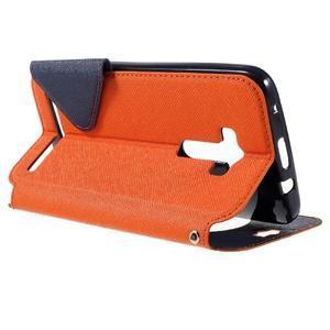 Peněženkové pouzdro s okýnkem na Asus Zenfone Selfie ZD551KL - oranžové - 5