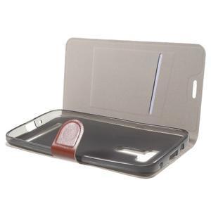 Horse peněženkové pouzdro na Asus Zenfone Selfie ZD551KL - hnědé - 5