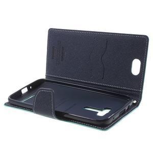Mr. Goos peněženkové pouzdro na Asus Zenfone Selfie ZD551KL - cyan - 5