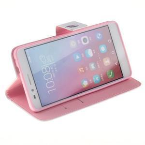 Peněženkové pouzdro pro mobil Honor 5X - barevná peříčka - 5