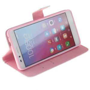 Peněženkové pouzdro pro mobil Honor 5X - ptačí peříčko - 5
