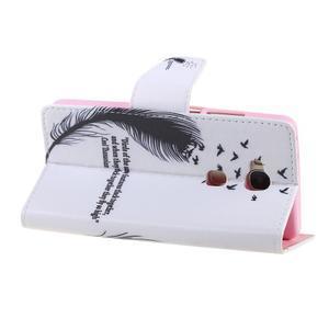 Knížkové pouzdro na mobil Honor 5X - ptačí peříčko - 5