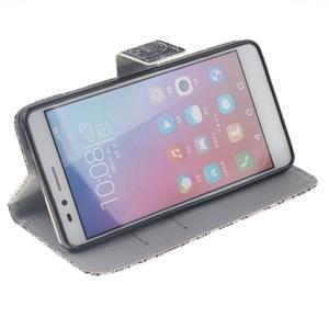 Peněženkové pouzdro pro mobil Honor 5X - retro květina - 5