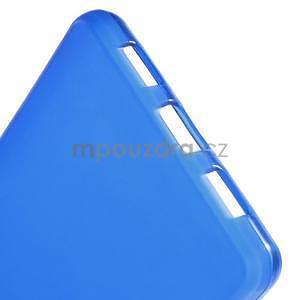Modrý matný gelový obal pro Huawei Ascend P8 Lite - 5