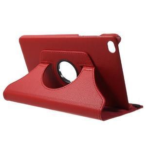 Otočné polohovatelné pouzdro na Huawei MediaPad M2 - červené - 5