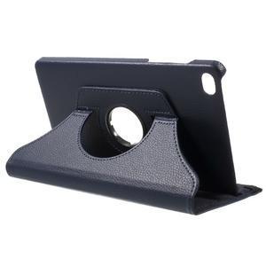 Otočné polohovatelné pouzdro na Huawei MediaPad M2 - tmavěmodré - 5