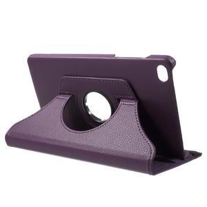 Otočné polohovatelné pouzdro na Huawei MediaPad M2 - fialové - 5