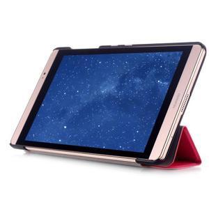 Trifold polohovatelné pouzdro na tablet Huawei MediaPad M2 8.0 - rose - 5