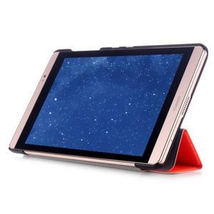 Trifold polohovatelné pouzdro na tablet Huawei MediaPad M2 8.0 - oranžové - 5