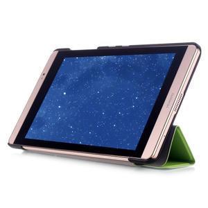 Trifold polohovatelné pouzdro na tablet Huawei MediaPad M2 8.0 - zelené - 5