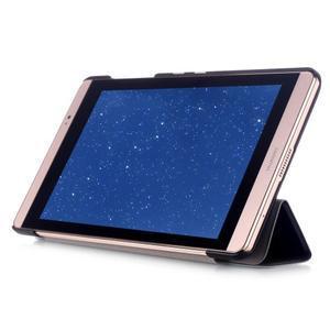 Trifold polohovatelné pouzdro na tablet Huawei MediaPad M2 8.0 - černé - 5