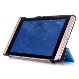 Trifold polohovatelné pouzdro na tablet Huawei MediaPad M2 8.0 - světlemodré - 5