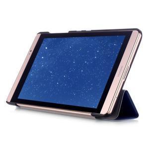 Trifold polohovatelné pouzdro na tablet Huawei MediaPad M2 8.0 - tmavěmodré - 5
