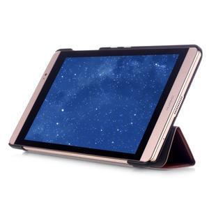 Trifold polohovatelné pouzdro na tablet Huawei MediaPad M2 8.0 - hnědé - 5