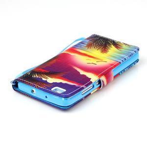 Picture PU kožené pouzdro na Huawei P8 Lite - plážová scenérie - 5