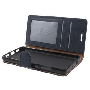 Clothy PU kožené pouzdro na mobil Huawei P8 Lite - tmavěmodré - 5