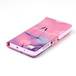 Picture PU kožené pouzdro na Huawei P8 Lite - odkvetlé pampelišky - 5