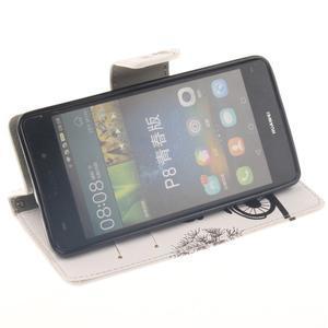 Leathy PU kožené pouzdro na Huawei P8 Lite - láska na kole - 5