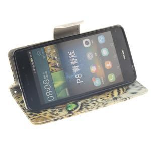 Leathy PU kožené pouzdro na Huawei P8 Lite - gepard - 5