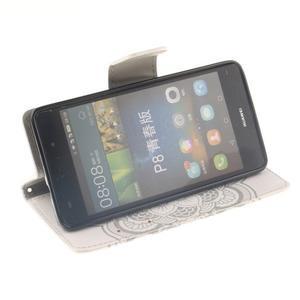 Leathy PU kožené pouzdro na Huawei P8 Lite - mandala - 5