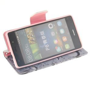 Leathy PU kožené pouzdro na Huawei P8 Lite - srdce - 5