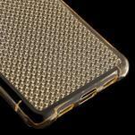 Diamonds gelový obal na Huawei P8 Lite - zlatý - 5/5