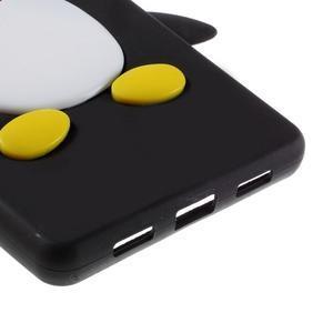 Tučňák silikonový obal na mobil Huawei P8 Lite - černý - 5