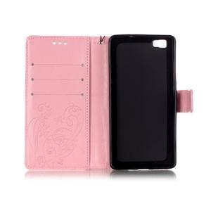 Magicfly PU kožené pouzdro na Huawei P8 Lite - růžové - 5