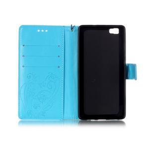 Magicfly PU kožené pouzdro na Huawei P8 Lite - modré - 5