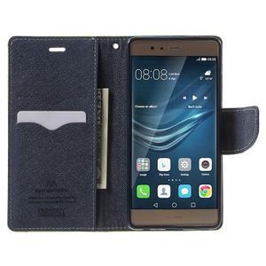 Diary PU kožené pouzdro na mobil Huawei P9 - zelené - 5