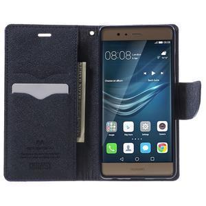 Diary PU kožené pouzdro na mobil Huawei P9 - fialové - 5