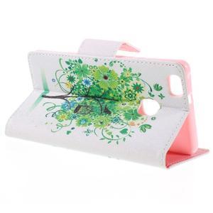 Richi PU kožené pouzdro na Huawei P9 Lite - zelený strom - 5