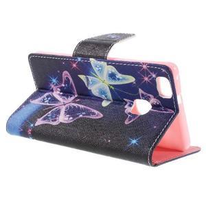 Richi PU kožené pouzdro na Huawei P9 Lite - kouzelní motýlci - 5