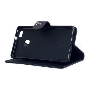 Peněženkové PU kožené pouzdro na Huawei P9 Lite - nešahej na můj telefon - 5