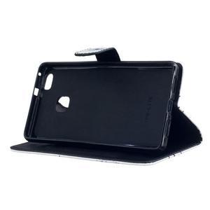 Peněženkové PU kožené pouzdro na Huawei P9 Lite - pampelišky - 5
