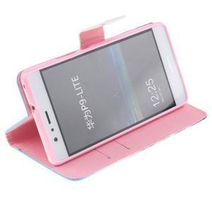 Knížkové PU kožené pouzdro na Huawei P9 Lite - triangle - 5