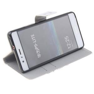 Knížkové PU kožené pouzdro na Huawei P9 Lite - láska - 5