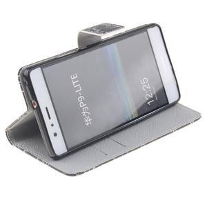 Knížkové PU kožené pouzdro na Huawei P9 Lite - vzorečky - 5