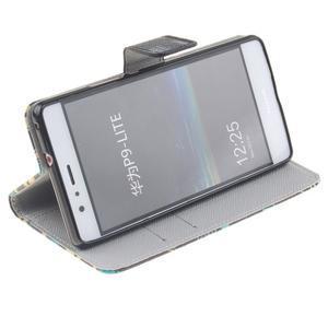 Knížkové PU kožené pouzdro na Huawei P9 Lite - peříčka - 5